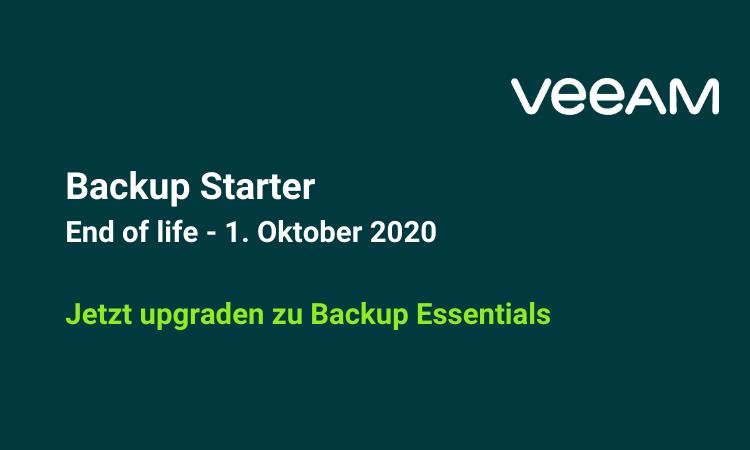 Veeam Backup Starter End of life